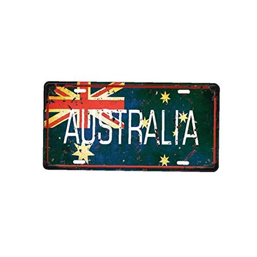 IUwnHceE Señal de Hierro Arte de la Pared del Metal de la Vendimia de Hierro Placa de la Pared Poster Pared Australia Cartel para Café Bar Pub Beer Club Pared Decoración 1pc