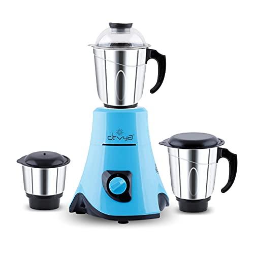 Devya PRO-BLUE 750W Mixer Grinder - Discount Offer - Best Budget Mixer