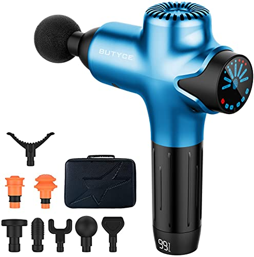 Massage Gun Deep Tissue Percussion Muscle Massage, Super Quiet Portable Body Relaxation Electric Drill Sport Massager Brushless Motor with 7 Speeds Y8 Pro(Sliver)
