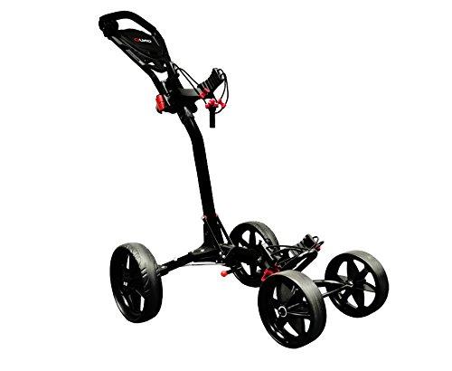 Ezeglide Compact Quad - Carrito de Golf de Mano con Ruedas, Color Negro, Talla n/a