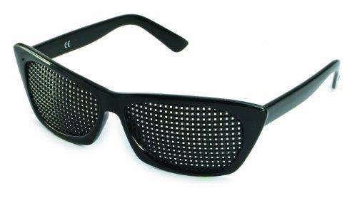 Gafas estenopeicas 415-FSP - cuadrado Rejilla - negro - Incl. Accesorio