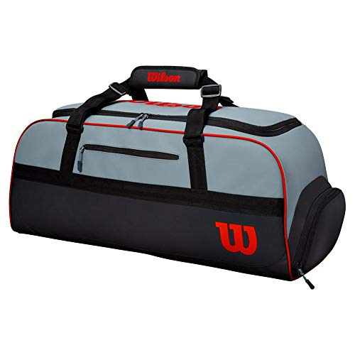 Wilson Bolsa de tenis, Clash, Hasta 3 o 4 raquetas, Gris/negro/naranja, WR8002401001