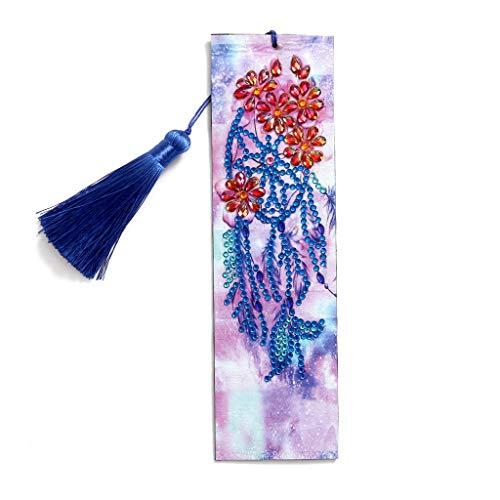 URYKEE Diamond Art Bookmarks Dream Catcher Cross Stitch Number Kit Bookmark Kit Diamond Painting Bookmark Craft for Adults DIY Art Craft Home Decor