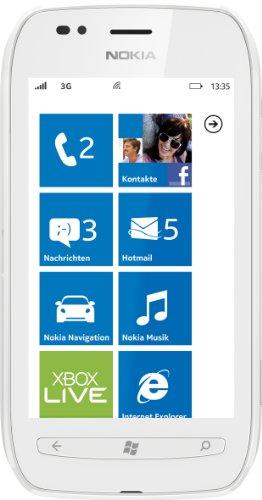 Nokia Lumia 710 Smartphone (9,4 cm (3,7 Zoll) Touchscreen, 5 Megapixel Kamera, Windows Phone Mango OS) weiß