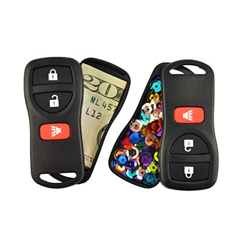 Festivaults The Snea-Key Fob Twofer (2-Pack), Diversion Safe, Secret Stash Box, Fake Car Key, Hidden Compartment