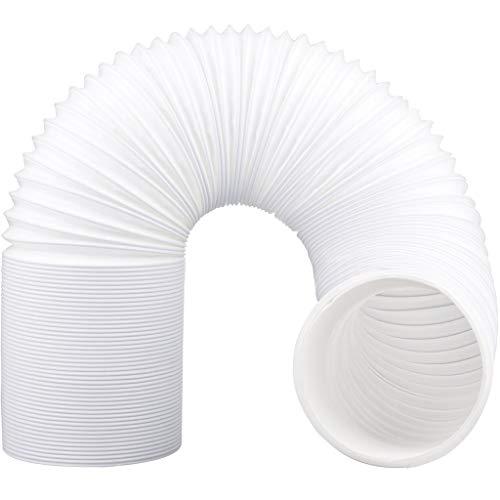 Hukz Abluftschlauch Klimageräte, PVC Flexibel Ø 130mm, Max Länge 2 Meter, für Mobile Klimageräte, Klimaanlagen, Trockner, Abzugshaube und Wäschetrockner