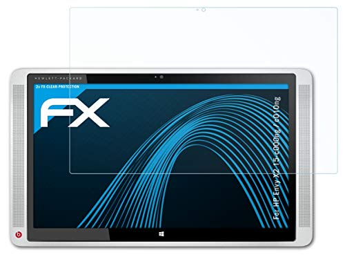 atFolix Schutzfolie kompatibel mit HP Envy X2 15-c000ng / c010ng Folie, ultraklare FX Bildschirmschutzfolie (2X)