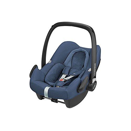 Maxi-Cosi Rock Babyschale, sicherer i-Size Kindersitz, Gruppe 0+ (0-13 kg), nutzbar ab der Geburt bis 12 Monate, nomad blue
