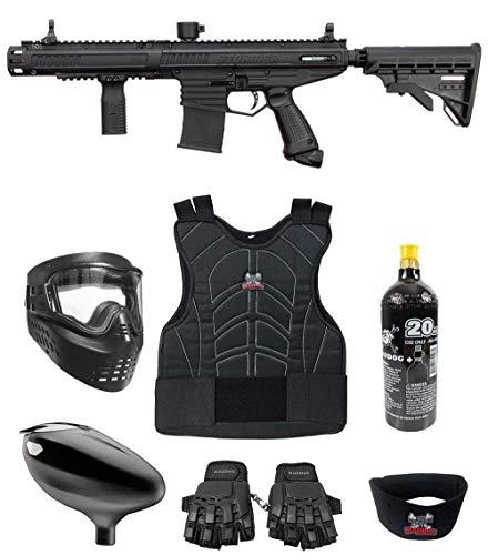 Maddog Tippmann Stormer Elite Dual Fed Beginner Protective CO2 Paintball Gun Marker Starter Package - Black