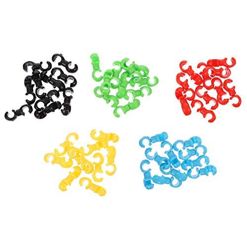 CLISPEED 50 Cierres de Cable de Bicicleta Enganches Giratorios S- Hook Clip...