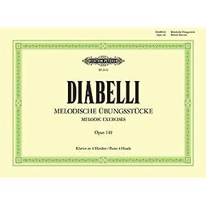 Melodische Übungsstücke: für Klavier zu vier Händen – im Umfang von 5 Tönen op 149 (Grüne Reihe Edition Peters)