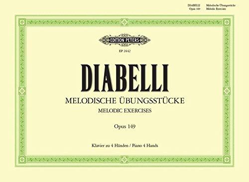 Melodische Übungsstücke: für Klavier zu vier Händen - im Umfang von 5 Tönen op 149 (Grüne Reihe Edition Peters)