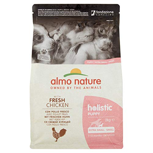 Almo Nature Holistic Hundefutter, Puppy, Small Dog, Huhn und Reis, 2 kg