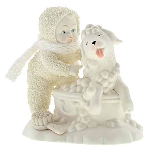 "Department 56 Snowbabies ""Bath Time"" Porcelain Figurine, 4"""