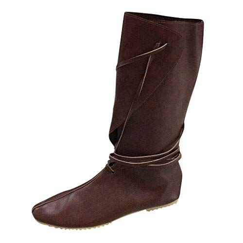 DQANIU Paar Stiefel, Winter Paar Mode Flock Schuhe Stiefel Cross-Strap Flache Schuhe Mittelrohr Stiefel