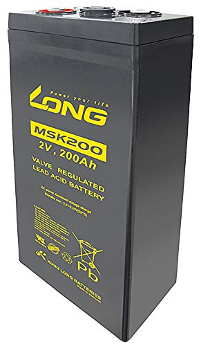 Kung Long MSK200 2V 200Ah AGM Blei Akku Batterie Notstrom USV-Anlagen (Radar, Funk, Sicherheitsbeleuchtung, Telekommunikation, BSV-Anlagen, Notbeleuchtung) Solarspeicher (Hausspeicher, Inselsysteme)