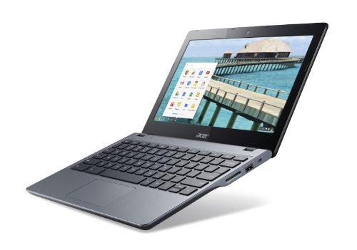 Acer C720-3404 11.6-Inch Chromebook (Intel Core i3, 4 GB) Granite Gray