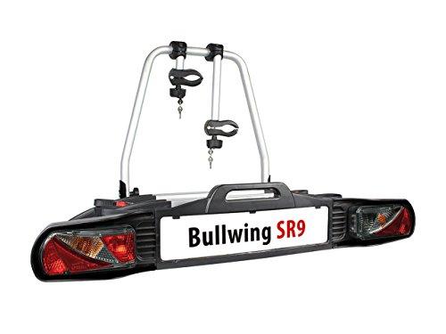 Bullwing SR9 Auto Fahrradträger Heckträger für 2 Fahrräder mit Anhängerkupplung Fahrradheckträger Kupplungsträger Fahrradhalter Kupplung Klappbar E-Bike geeignet