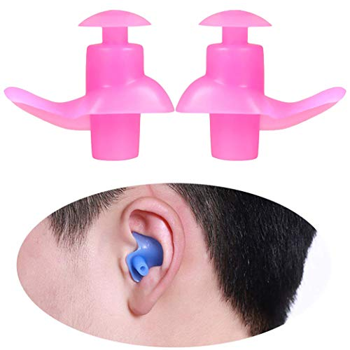 StyleBest Schwimmen Ohrstöpsel, Silikon Wiederverwendbare weiche Ohrstöpsel zum Schwimmen Duschen Surfen Schnorcheln und andere Wassersportarten (1 Paar)