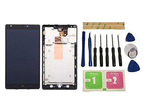 Flügel para Nokia Lumia 1520 Pantalla LCD pantalla Negro Táctil digitalizador Completo Pantalla ( con marco ) de Recambio & Herramientas