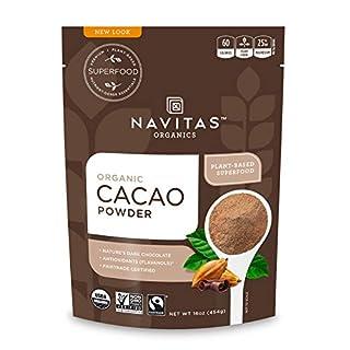 Navitas Organics Cacao Powder, 16 oz. Bags (Pack of 2) — Organic, Non-GMO, Fair Trade, Gluten-Free (19-002) (B001E5E0Y2) | Amazon price tracker / tracking, Amazon price history charts, Amazon price watches, Amazon price drop alerts