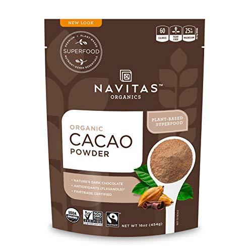 Navitas Organics Cacao Powder, 16oz. Bag - Organic, Non-GMO, Fair Trade, Gluten-Free
