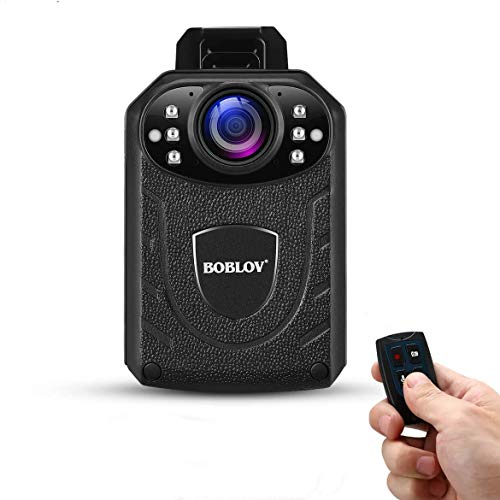 KJ21Pro Body Camera with Remote Control,Body Camera with External Lens, 1296P Police Body Mounted Camera 8Hours Recording, Body Wearable Camera with Audio Night Visio (KJ21PRO)