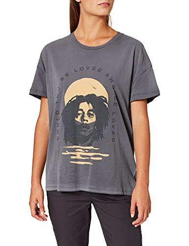 Only ONLBOB Marley SS DNM tee Camiseta, Gris Oscuro, XL para Mujer
