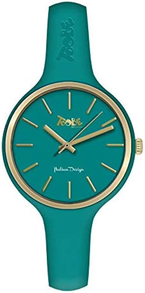 Boccadamo orologio toobe,per donna, cassa in metallo,cinturino in silicone anallergico Mu005
