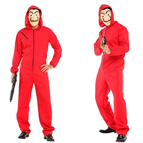 ZHANGXX Salvador Dali Film Het Huis Van Papier La Casa De Papel Cosplay Party Halloween Masker Geld Heist Kostuum En Gezichtsmasker Kinderen Volwassen