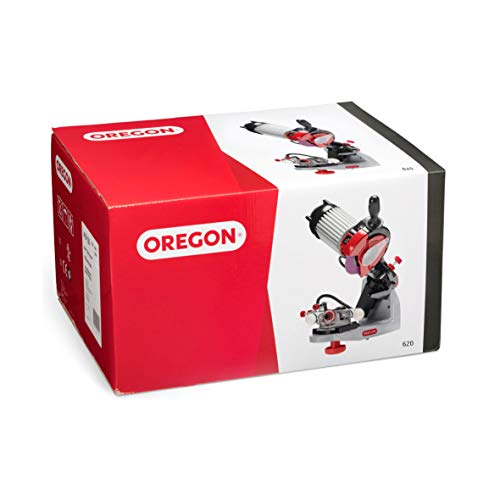 Oregon 620-120 Professional 120V Bench Grinder, Universal Saw Chain Sharpener with Hydraulic Clamping Assistance, for All Chainsaw Chains, Sharpens Oregon, Stihl, Husqvarna Chains and More