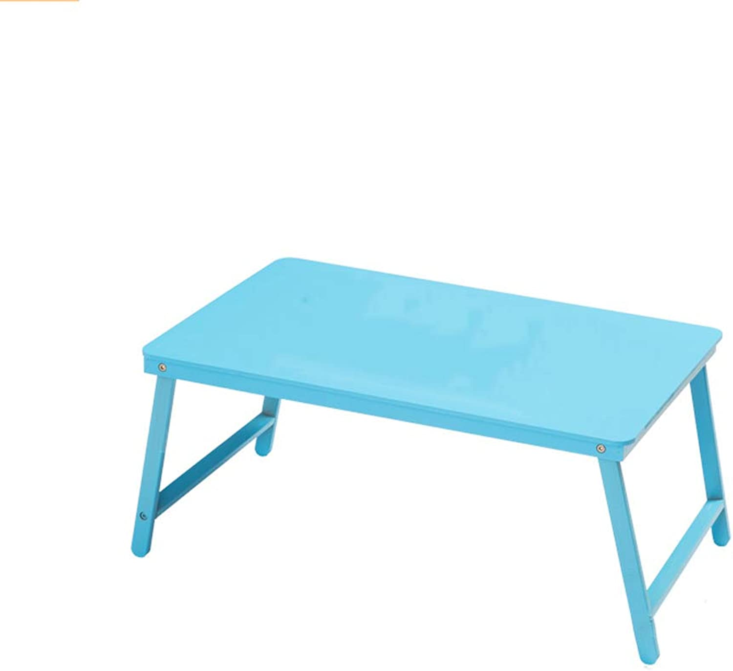 YAXIAO-table Folding Laptop Desk Bed with Small Table Dormitory Lazy Simple Desk Study Table bluee 27x39x60cm