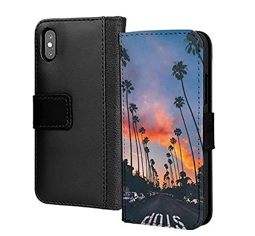 Road to Sunset New York Sunny Summer Warm Night PU Wallet in Card Phone Case Cover para Samsung Galaxy S6 Edge