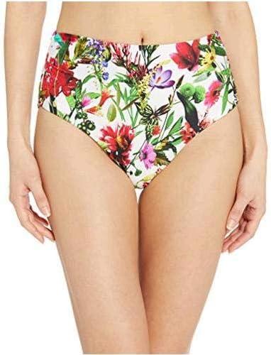 Tahari Women's Ruched Transformable High Waist Bikini Bottom