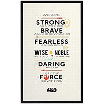 Open Road Brands Disney Star Wars Constitution Wood Wall Décor - Large 15.25 Inch x 25 Inch Size for Bedroom Office or Movie Room