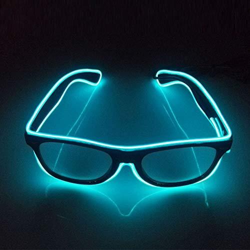 Glaray Light Up LED Brille Neuheit Leuchtende Gläser Einstellbar EL Wire Neon Rave Brillen (Aqua)