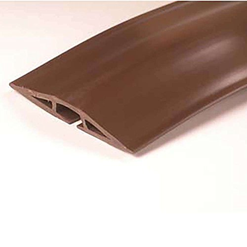 C2G/Cables to Go 16330 Wiremold Corduct Overfloor Cord Protector, Brown (15 Feet)
