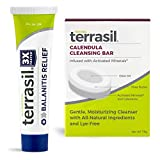 Terrasil Balanitis Relief with Calendula Soap Kit - Natural Gentle Skin Relief Ointment for Relief from Irritation Itch Redness Infection Inflammation Symptoms (14gm Tube + Soap Bar)