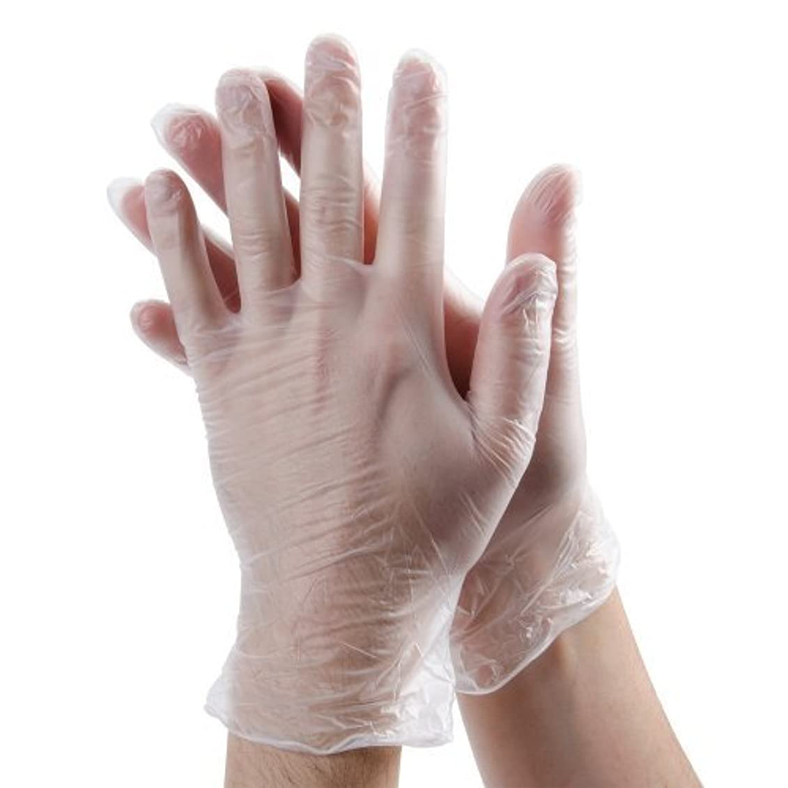 参加者スパイラル屋内Aviditi GLV2041M Vinyl Gloves?Powder-Free 3 Mil Clear Medium (Case of 100) [並行輸入品]