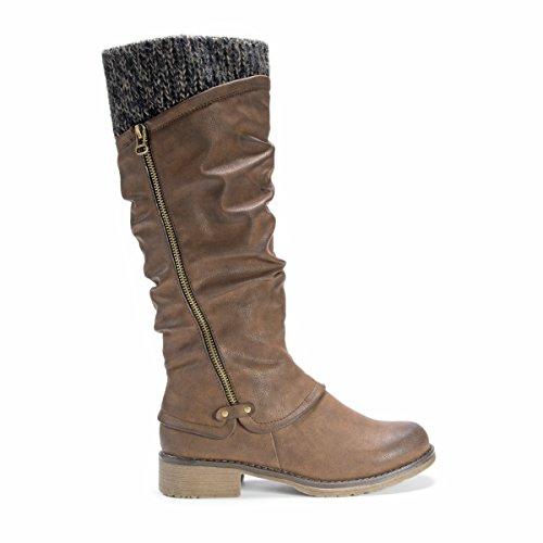 MUK LUKS Women's Bianca Boots - Medium Brown