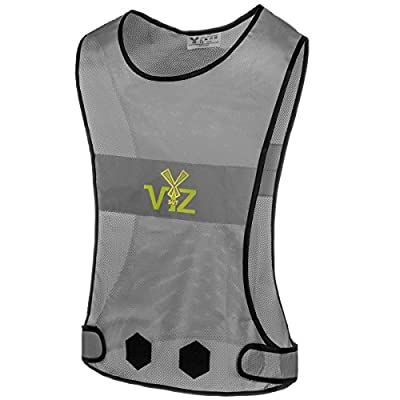 247 Viz The Blaze Reflective Running Vest 360 - Bee Seen from All Angles While Walking Jogging, Cycling and On a Motorcycle, High Visibility Reflective Running Gear (Medium)