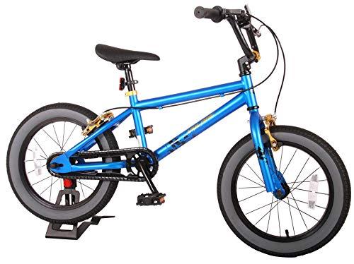 Bici Bicicletta Bambino 16 Pollici Cool Rider Freni al Manubrio Blu 95% assemblata