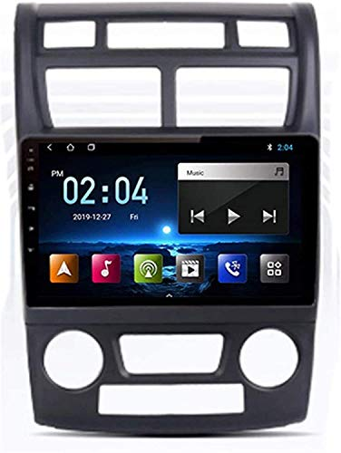 Laytte Coche GPS Navegación 9 Pulgadas para Kia Sportage 2 2007-2009 Touch Screen Unit Unidad De Cabeza Multimedia Player Android Radio Doble DUTO Stereo,4core 4G WiFi:1+32GB