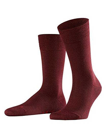 FALKE Herren Sensitive Berlin M SO Socken, Blickdicht, Rot (Barolo 8596), 43-46