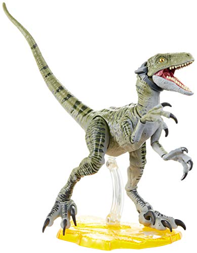 Jurassic World Velociraptor Charlie 6-inches (15.24 cm) Collectible Action Figure with Movie-Authentic Detail, Movable Joints and Figure Display Stand; for Ages 4 and Up