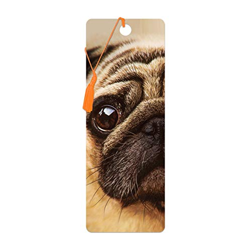 3D LiveLife Bookmark - Pug from Deluxebase. A Dog Book Marker with lenticular 3D Artwork Licensed from Renowned Artist David Penfound