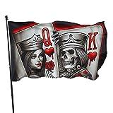 Roman Lin Willkommensflagge,Welcome Gartenflagge,Politische Flaggen,Garten Fahne Vertikal,König-Königin-Pik-Ass Hausgarten Flaggen,Haus Hof Dekoration,3X5 Ft,Außenbanner