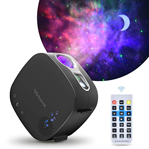 Star Projector,Yachance Moon Nebula Galaxy Night Light Projector with Bluetooth Speaker Remote Control Quiet Ceiling Projector for Bedroom/Party/Game Rooms/Camping (Kids,Adult)