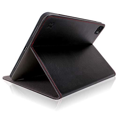 iPad Pro 11 Hülle 2020 Leder Case - mit Multi Winkel Ständer und Pencil Halter für 2. Generation Apple iPad Pro 11 zoll 2020