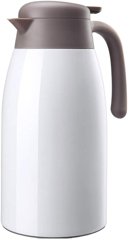 LRXG Thermoskannen, 304 Edelstahl Thermos Home Office Kaffee Saft Isolierung Groe Kapazitt 2L